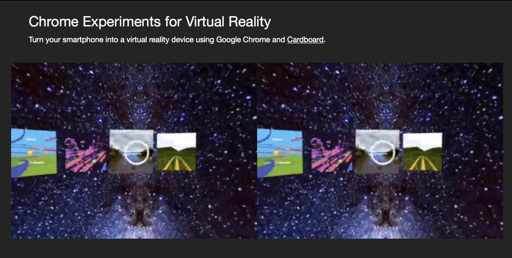 google chrome virtual reality